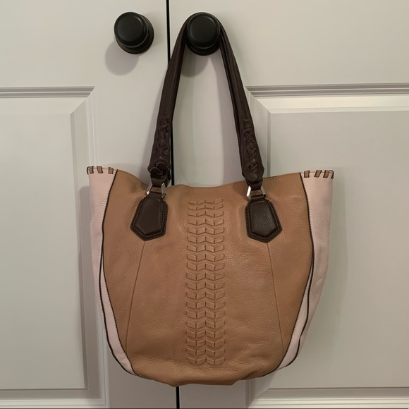 orYANY Lyssie Soft Pebbled Leather Color Block ToteAs Is/' with tags
